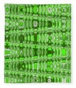Green Heavy Screen Abstract Fleece Blanket