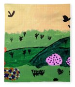 Green Hills Fleece Blanket