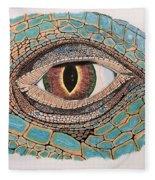 Green Iguana Eye Fleece Blanket