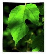 Green Is The Mulberry Leaf Fleece Blanket