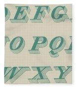 Green Italic Font Fleece Blanket