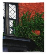 Green Ivy Garnet Brick Fleece Blanket