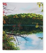 Green Lakes Fleece Blanket