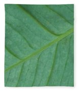 Green Leaf 1 Fleece Blanket