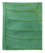 Green Leaf 2 Fleece Blanket
