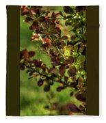 Green Leaf Spotlight Fleece Blanket