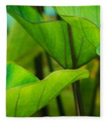 Green Leaves At Cantigny Fleece Blanket
