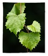 Green Leaves Fleece Blanket