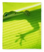 Green Lizard Fleece Blanket