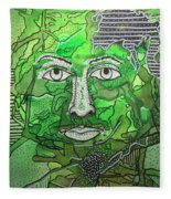 Green Man Fleece Blanket