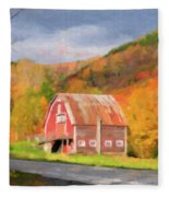 Green Mountains Barn Fleece Blanket