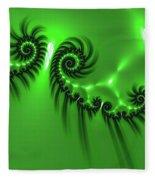 Green Mystery Fleece Blanket