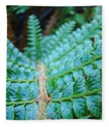 Green Nature Forest Fern Art Print Baslee Troutman  Fleece Blanket