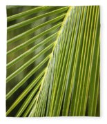 Green Palm Leaf Fleece Blanket