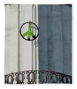 Green Peace Fleece Blanket