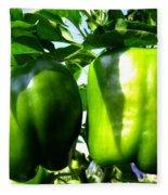 Green Peppers Fleece Blanket