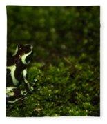 Green Poison Dart Frog Fleece Blanket