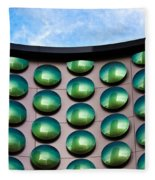 Green Polka-dot Curve Fleece Blanket