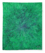 Green Radation With Violet  Fleece Blanket