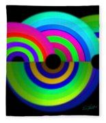 Green Rainbow Fleece Blanket