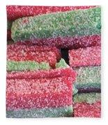 Green Red Sugary Sweet Fleece Blanket