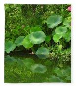 Green Reflection Fleece Blanket