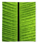 Green Ribs Fleece Blanket