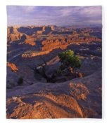 Green River Canyon Sunset Fleece Blanket