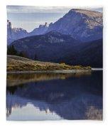 Green River Lake Fly-fisherman Fleece Blanket