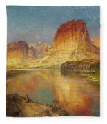 Green River Of Wyoming Fleece Blanket
