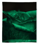 Green Rose Fleece Blanket