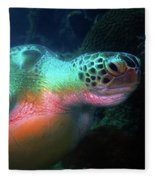 Green Sea Turtle 1 Fleece Blanket