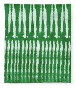 Green Shibori 1- Art By Linda Woods Fleece Blanket