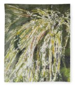 Green Reeds Fleece Blanket