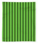 Green Striped Pattern Design Fleece Blanket