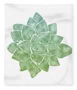 Green Succulent 1- Art By Linda Woods Fleece Blanket