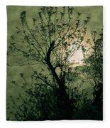 Green Sunset Fleece Blanket