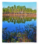 Green Swamp In December Fleece Blanket