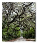 Green Swamp Oak Bower Fleece Blanket