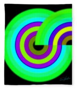 Green Targets Fleece Blanket