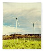 Green Tasmania Fleece Blanket