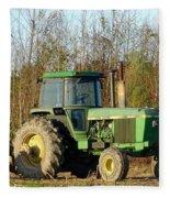 Green Tractor Fleece Blanket