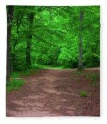 Green Trail Fleece Blanket