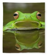 Green Tree Frog Fleece Blanket