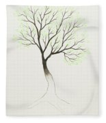 Green Tree Fleece Blanket