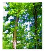 Green Trees 1 Fleece Blanket