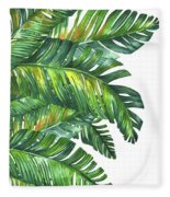 Green Tropic  Fleece Blanket