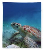 Green Turtle Fleece Blanket