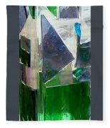 Green Vase Fleece Blanket
