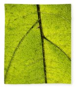 Green Veins Fleece Blanket